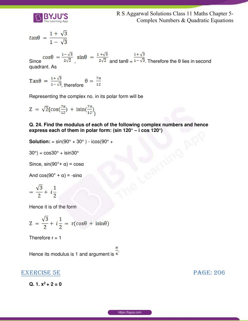 rs aggarwal class 11 maths solutions chapter 5 136