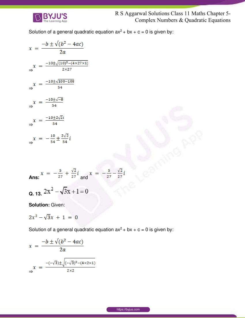 rs aggarwal class 11 maths solutions chapter 5 144