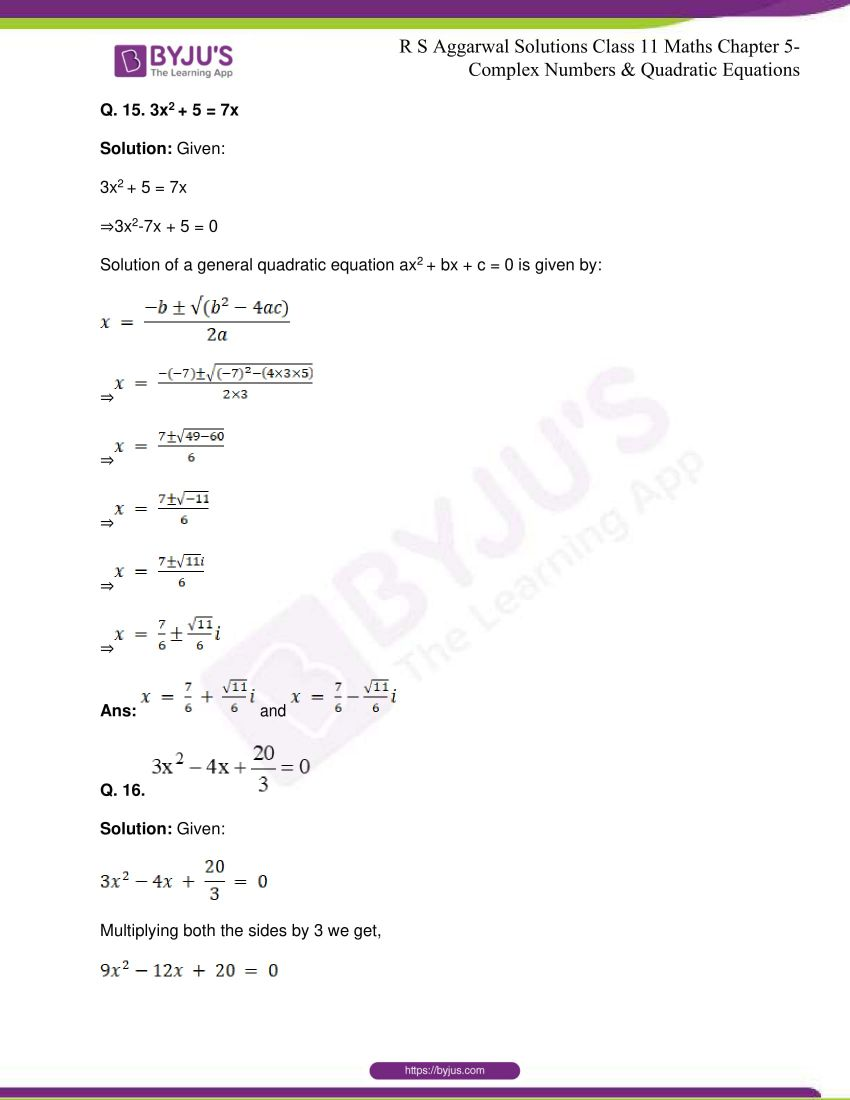 rs aggarwal class 11 maths solutions chapter 5 146