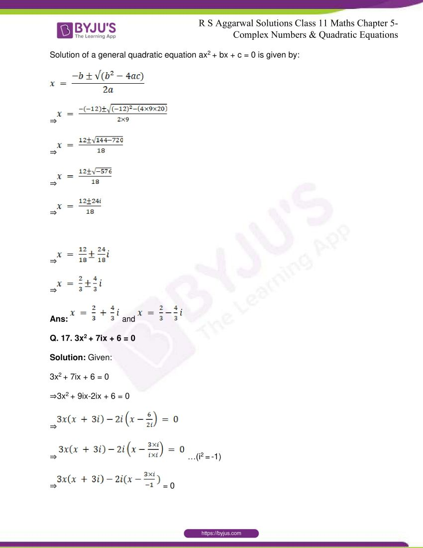 rs aggarwal class 11 maths solutions chapter 5 147
