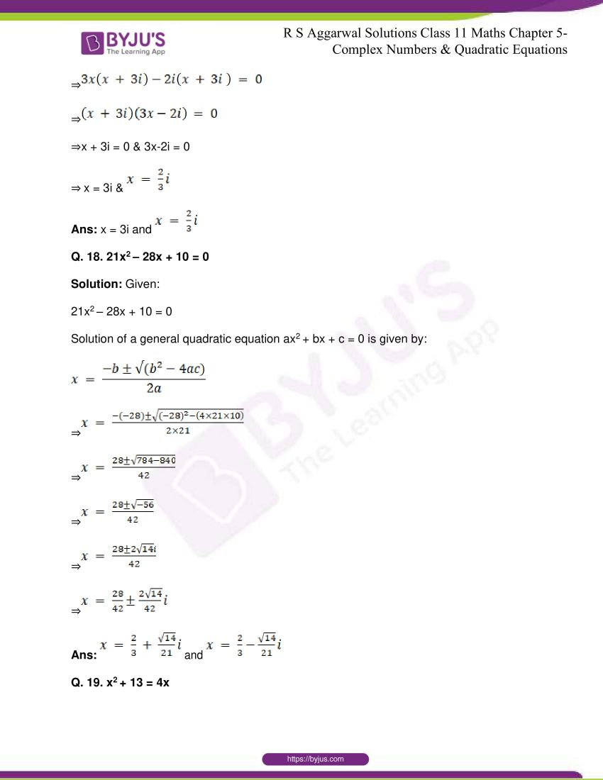 rs aggarwal class 11 maths solutions chapter 5 148
