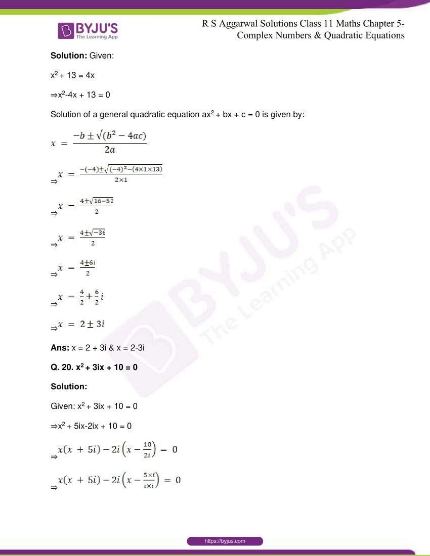 rs aggarwal class 11 maths solutions chapter 5 149