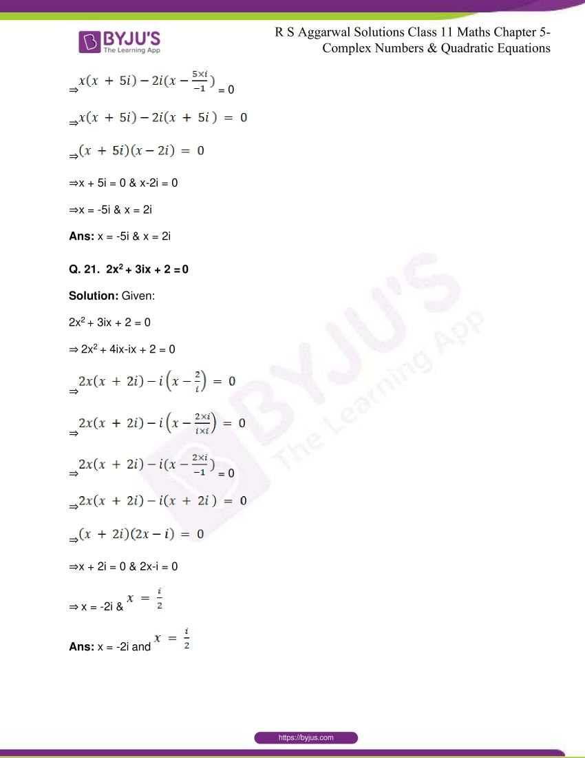 rs aggarwal class 11 maths solutions chapter 5 150
