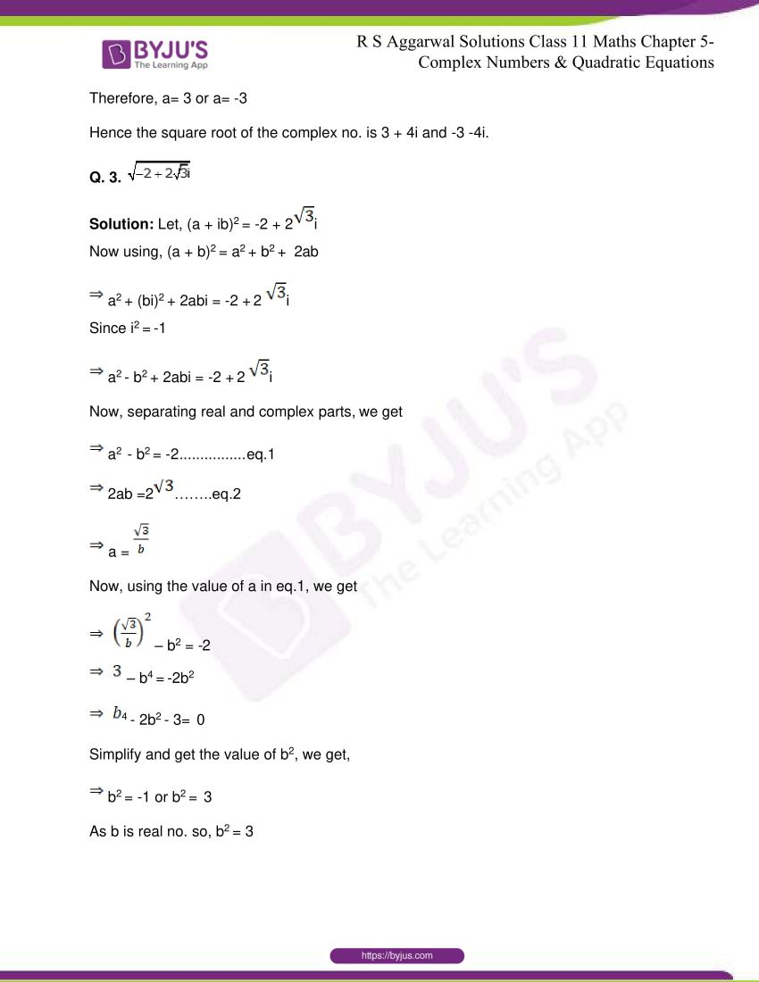 rs aggarwal class 11 maths solutions chapter 5 153