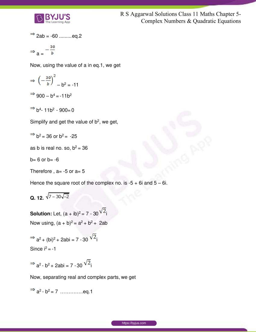 rs aggarwal class 11 maths solutions chapter 5 162