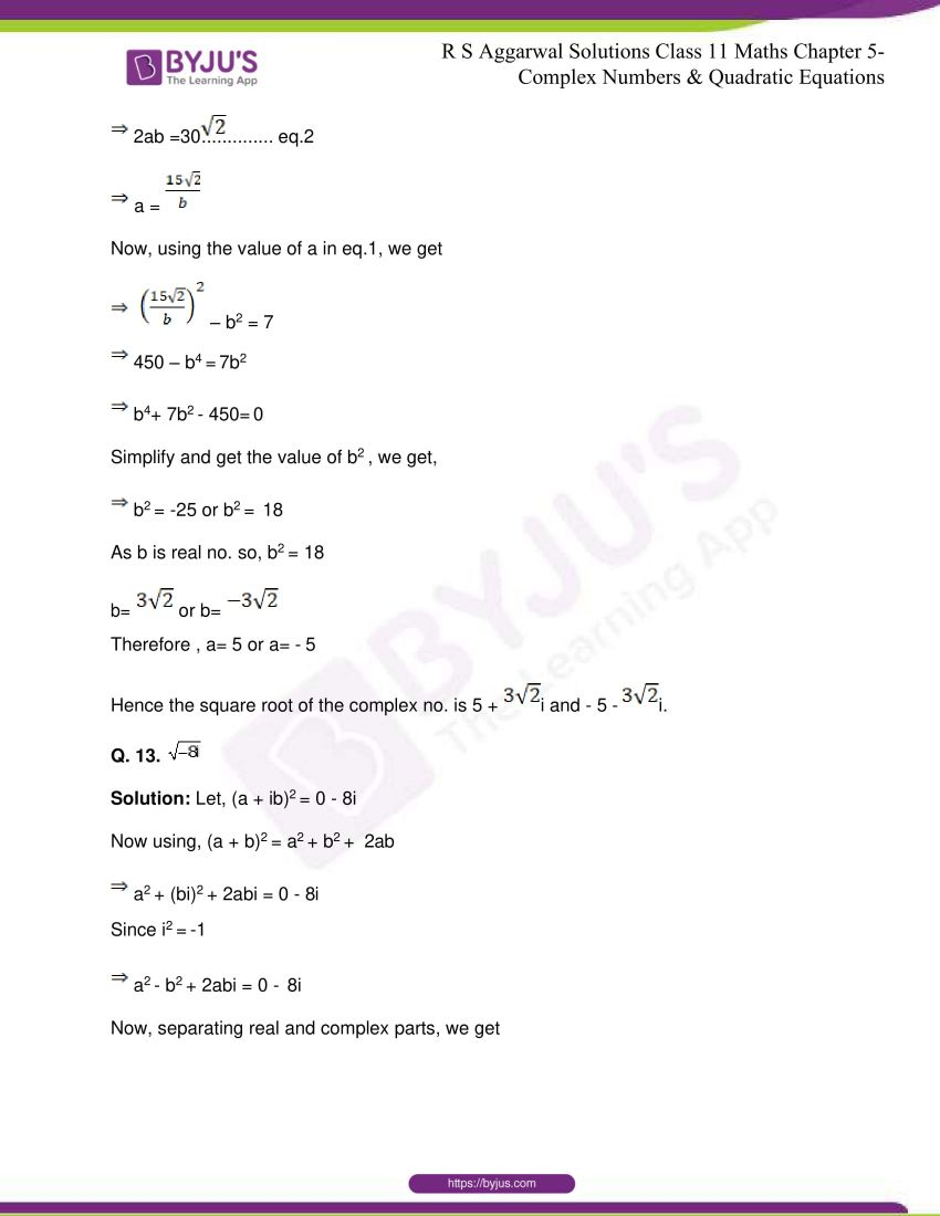 rs aggarwal class 11 maths solutions chapter 5 163