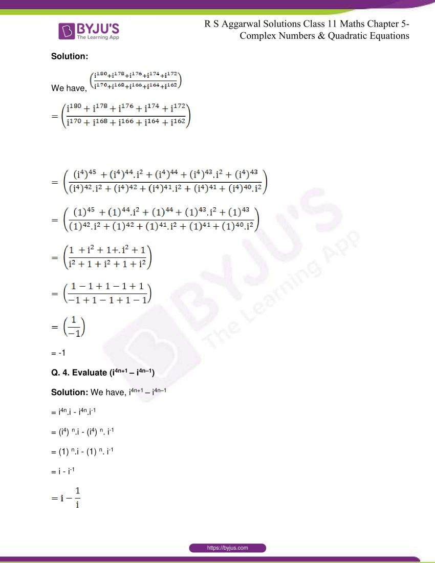 rs aggarwal class 11 maths solutions chapter 5 167