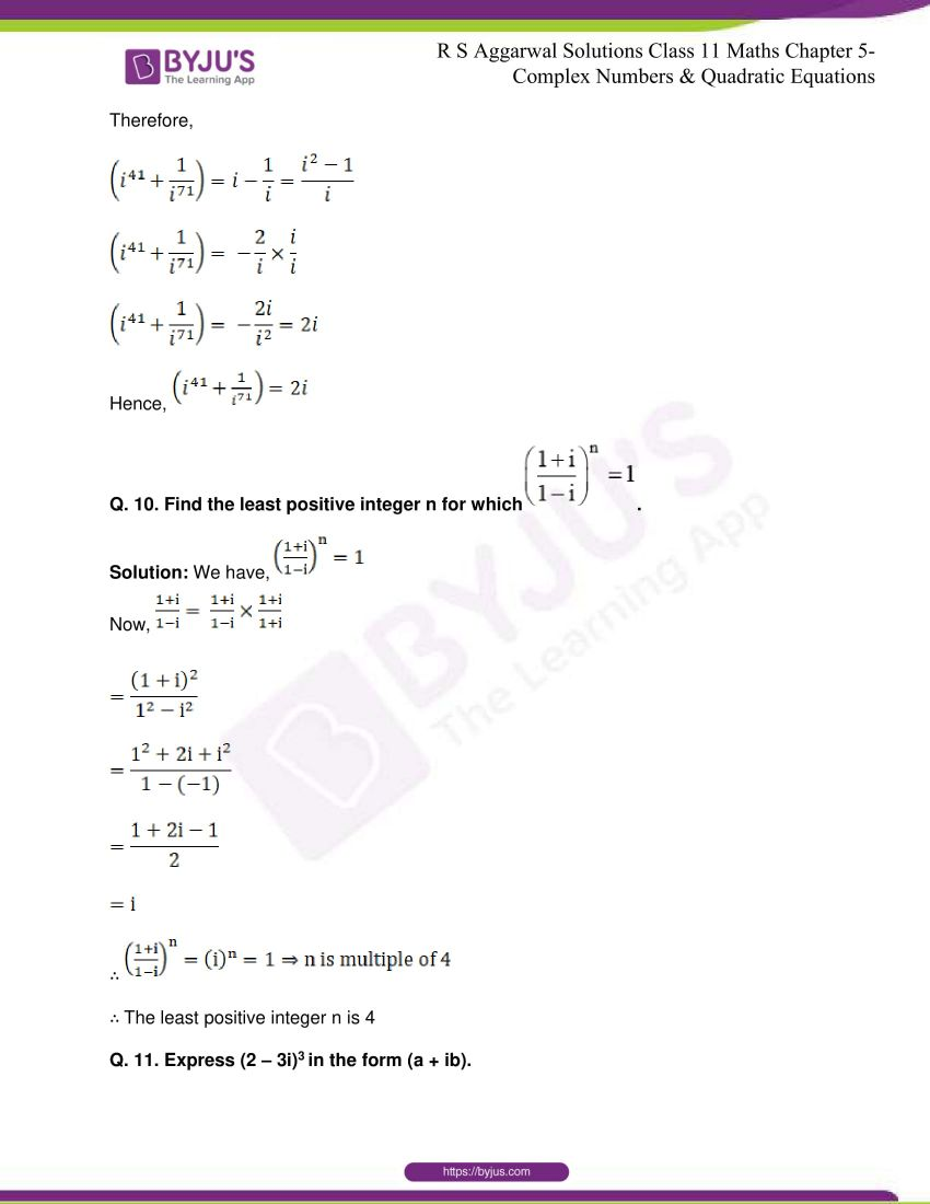rs aggarwal class 11 maths solutions chapter 5 170