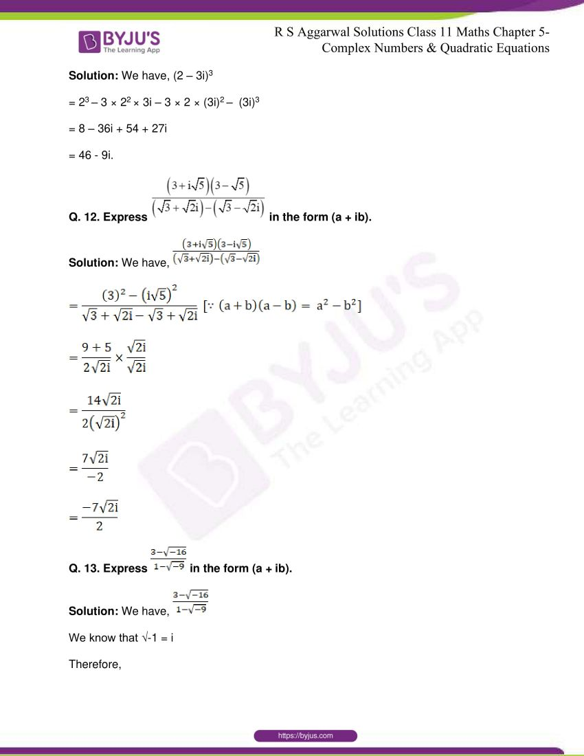 rs aggarwal class 11 maths solutions chapter 5 171