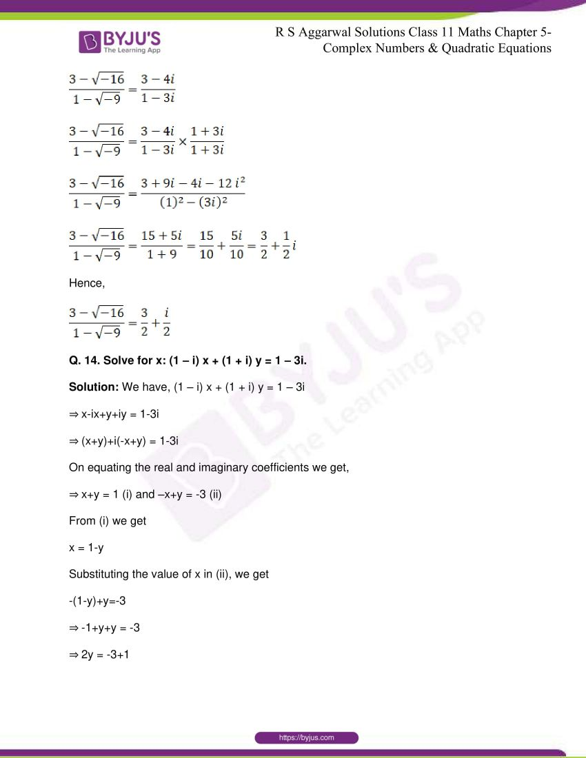 rs aggarwal class 11 maths solutions chapter 5 172