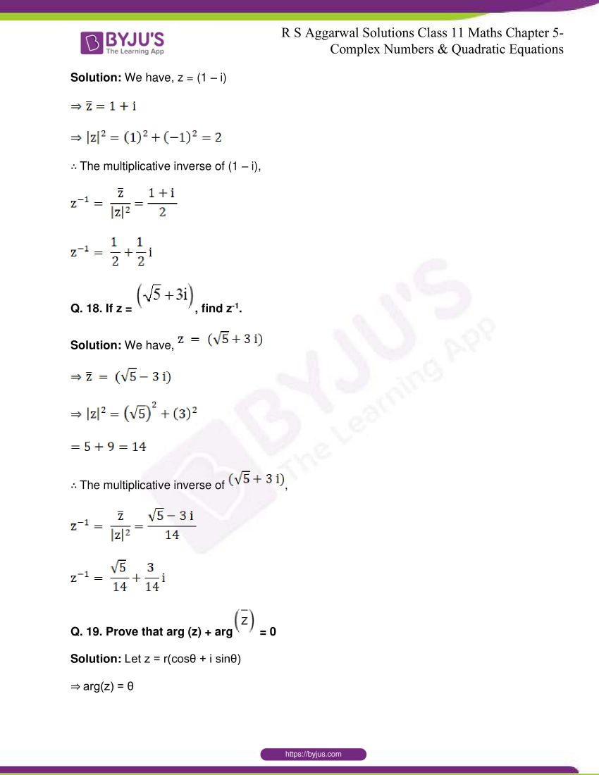 rs aggarwal class 11 maths solutions chapter 5 174