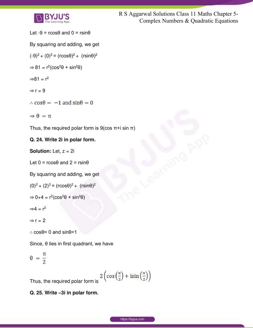 rs aggarwal class 11 maths solutions chapter 5 177