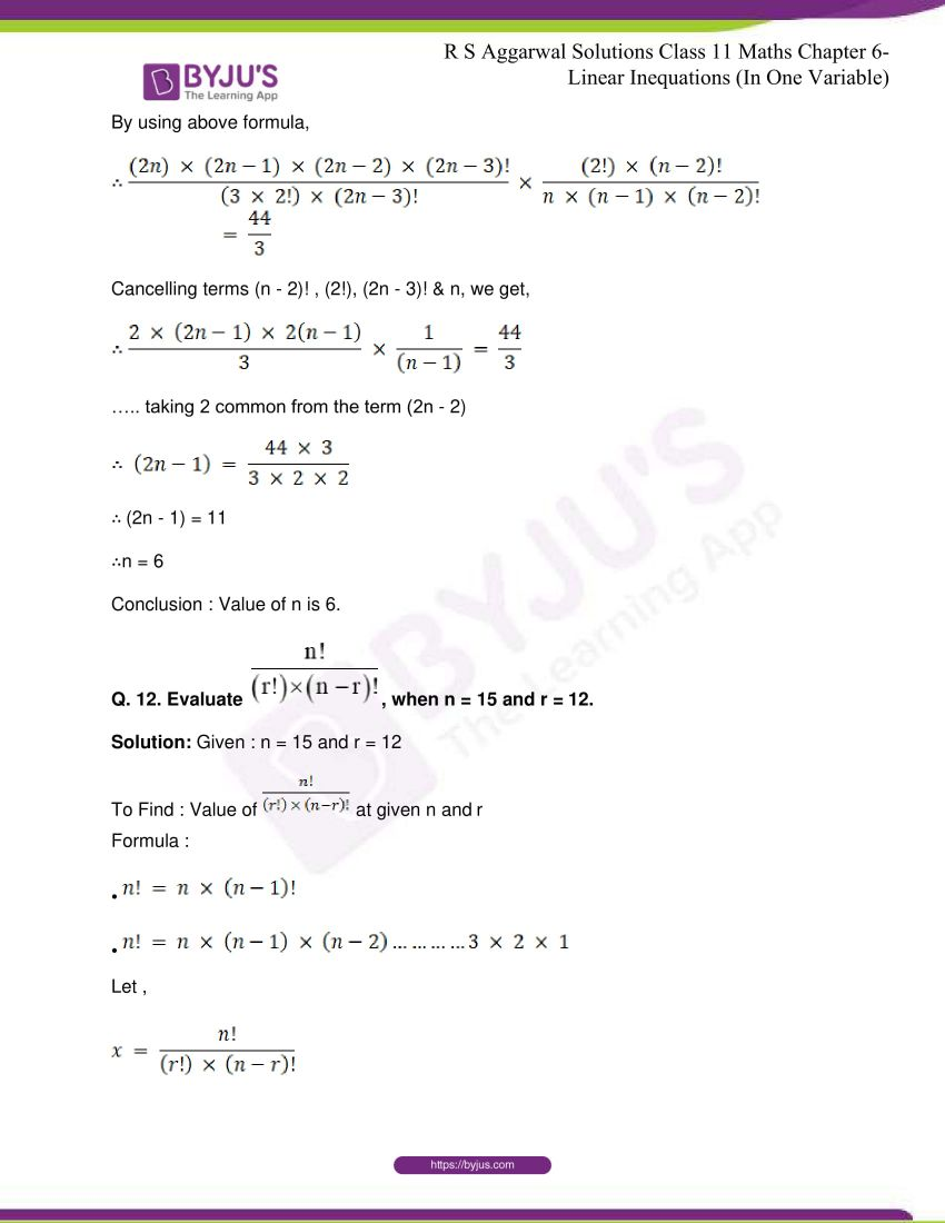 rs aggarwal class 11 maths solutions chapter 8 11