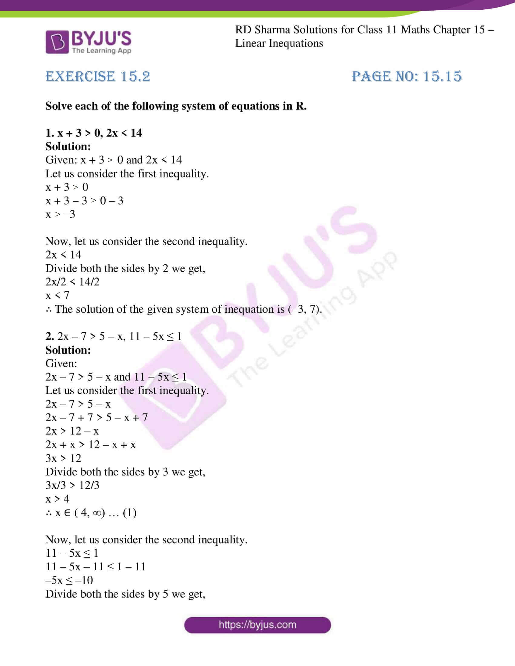 rd sharma class 11 maths ch 15 ex 2 1