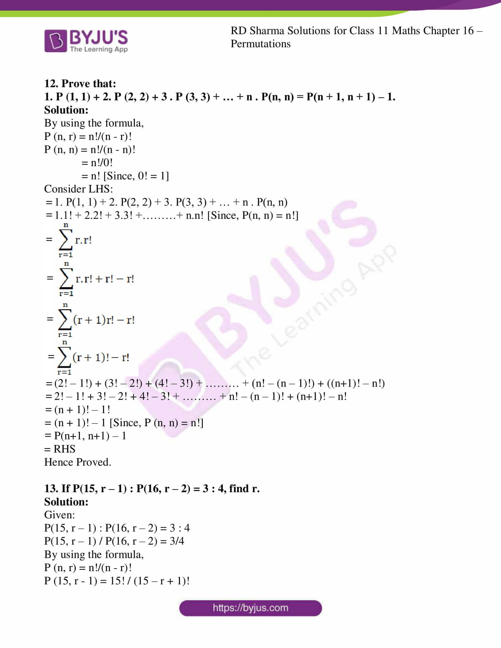 rd sharma class 11 maths ch 16 ex 3 09