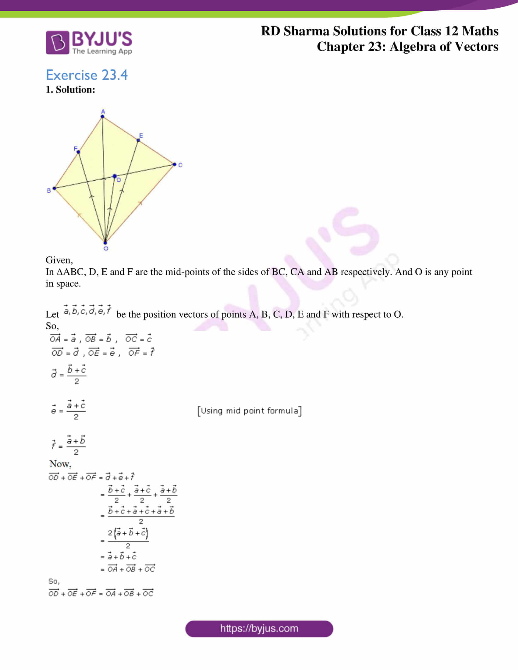 rd sharma class 12 solution for maths chapter 23 ex 4 1