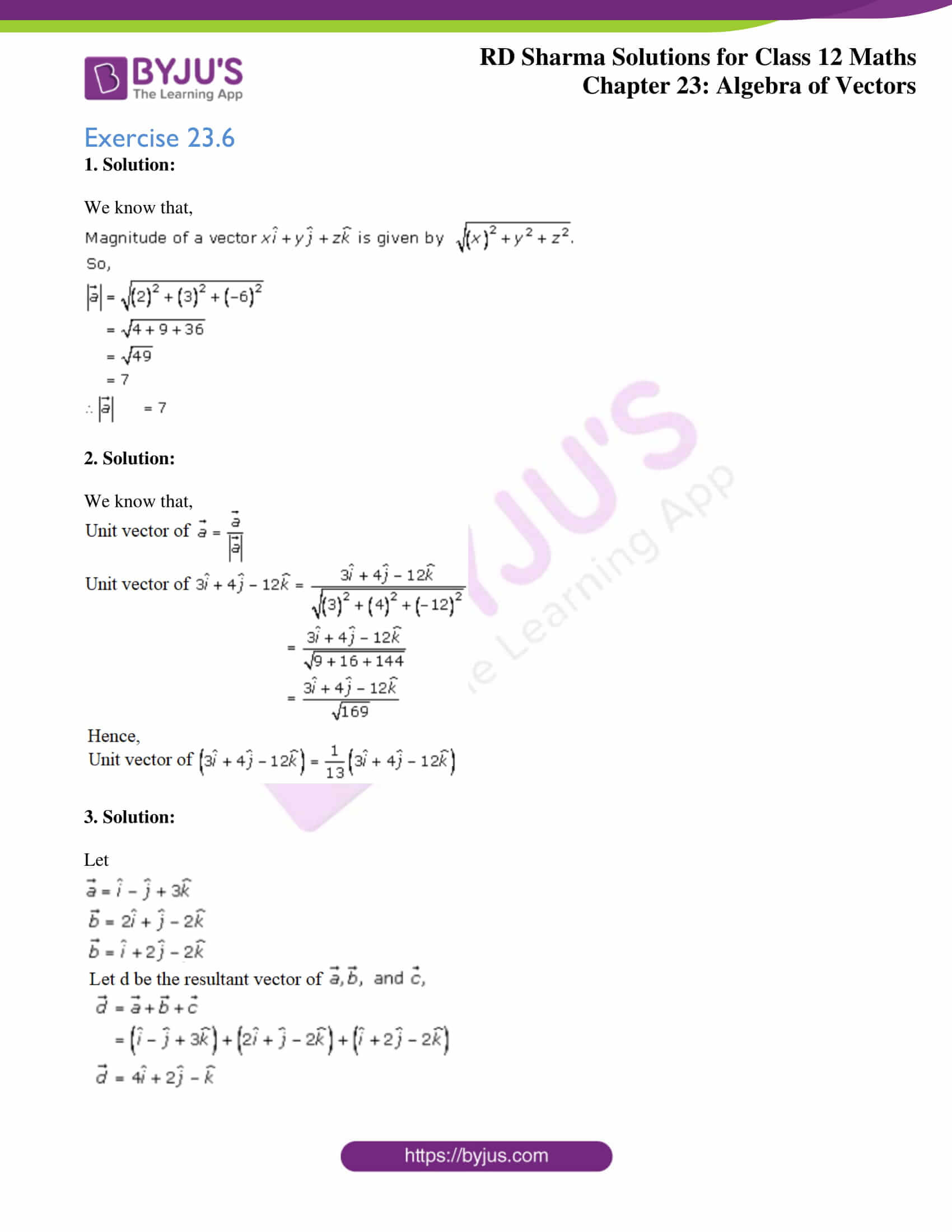 rd sharma class 12 solution for maths chapter 23 ex 6 1
