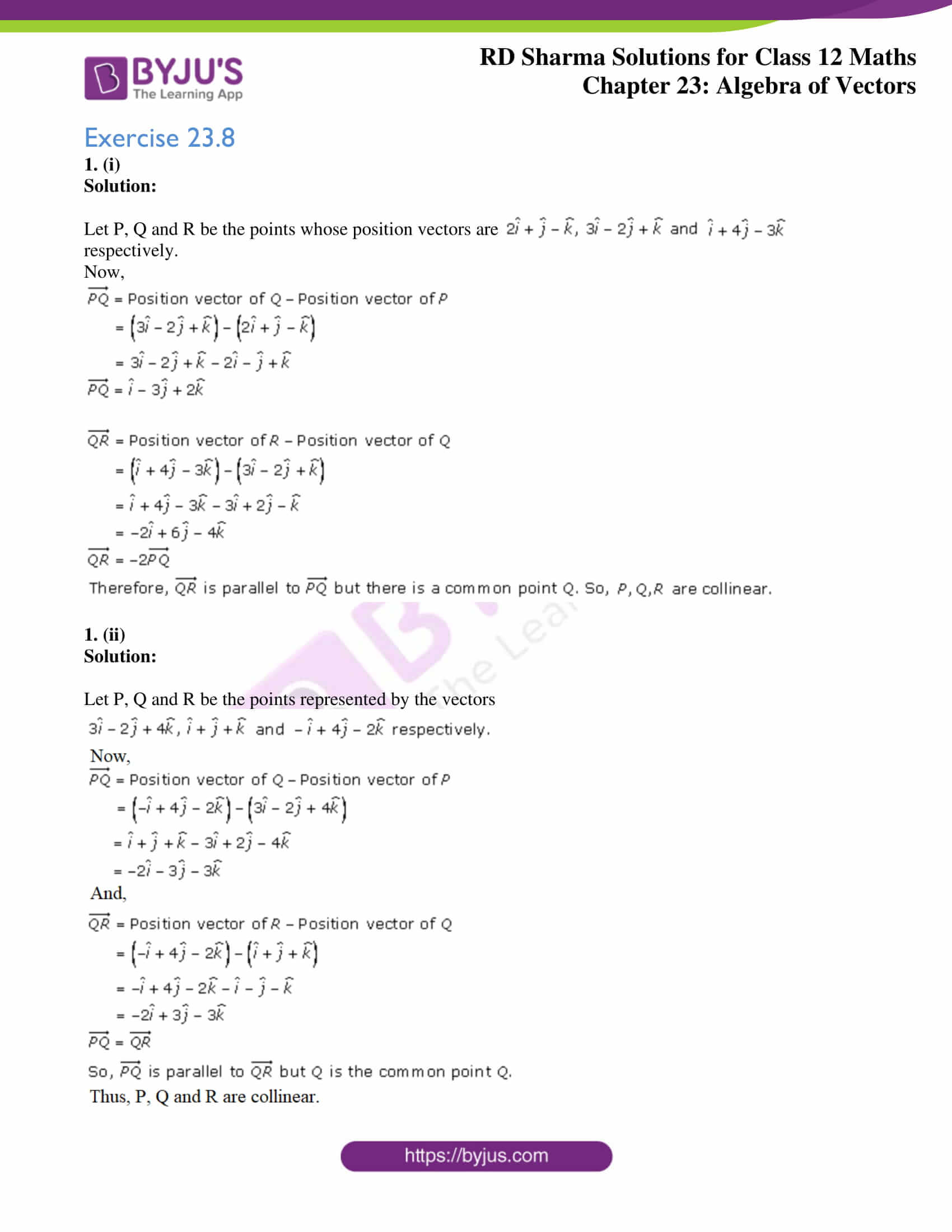 rd sharma class 12 solution for maths chapter 23 ex 8 1