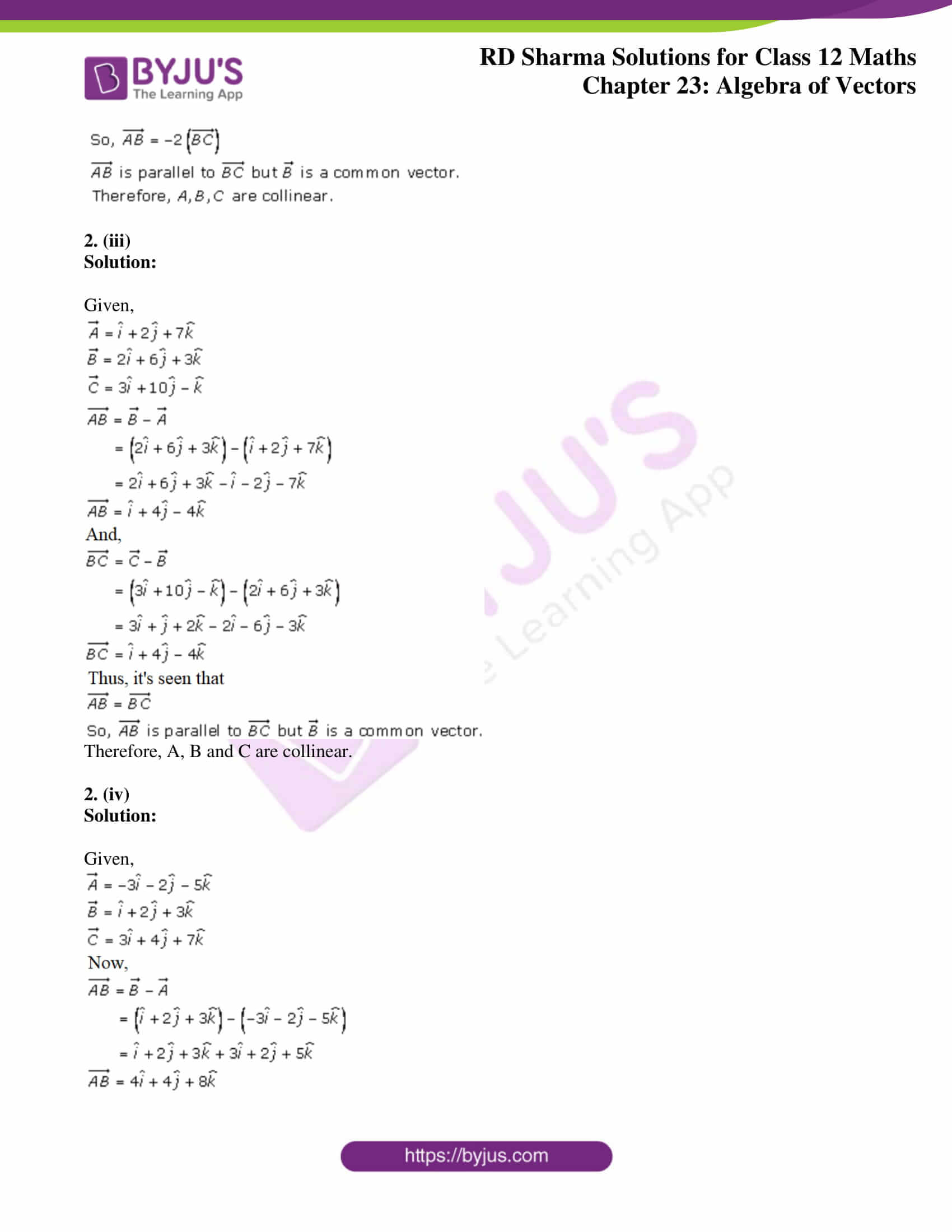 rd sharma class 12 solution for maths chapter 23 ex 8 3