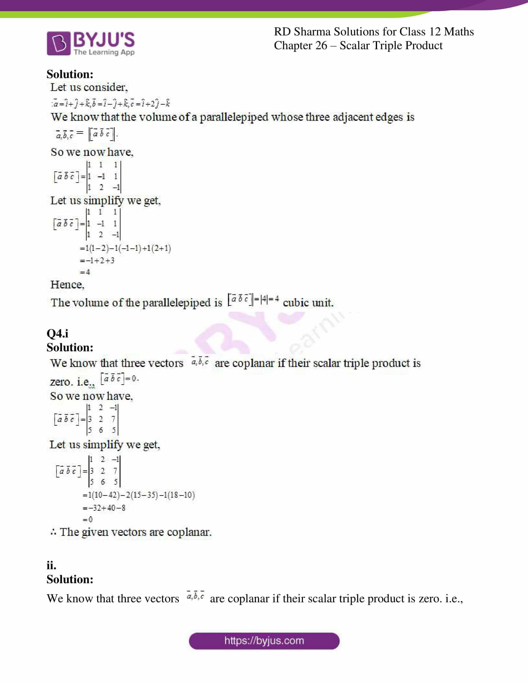 rd sharma class 12 solution for maths chapter 26 4