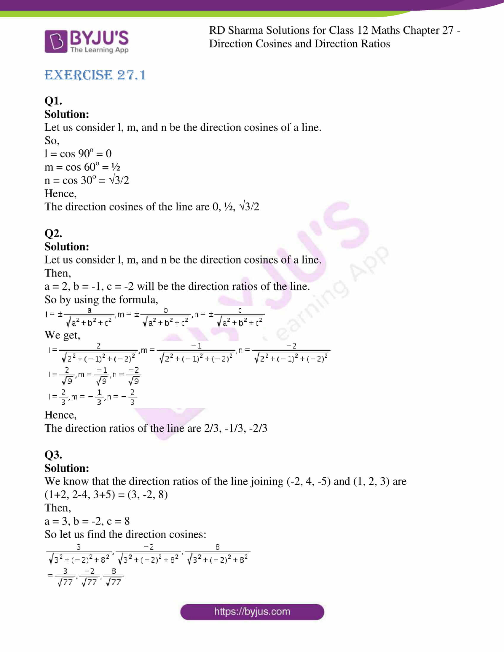 rd sharma class 12 solution for maths chapter 27 1