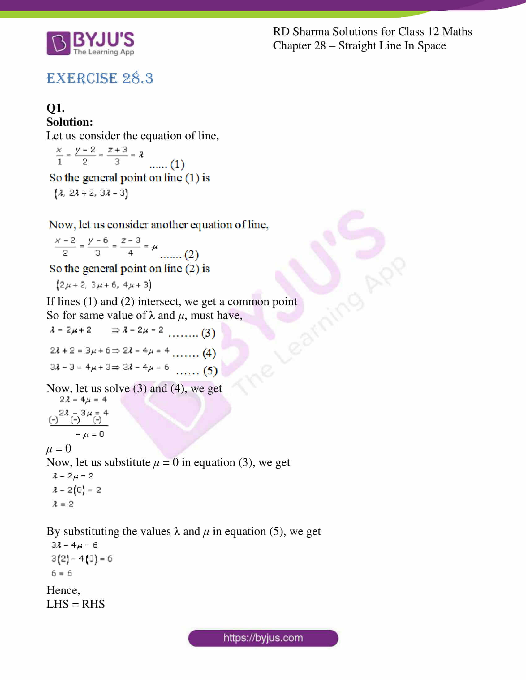 rd sharma class 12 solution for maths chapter 28 ex 3 1