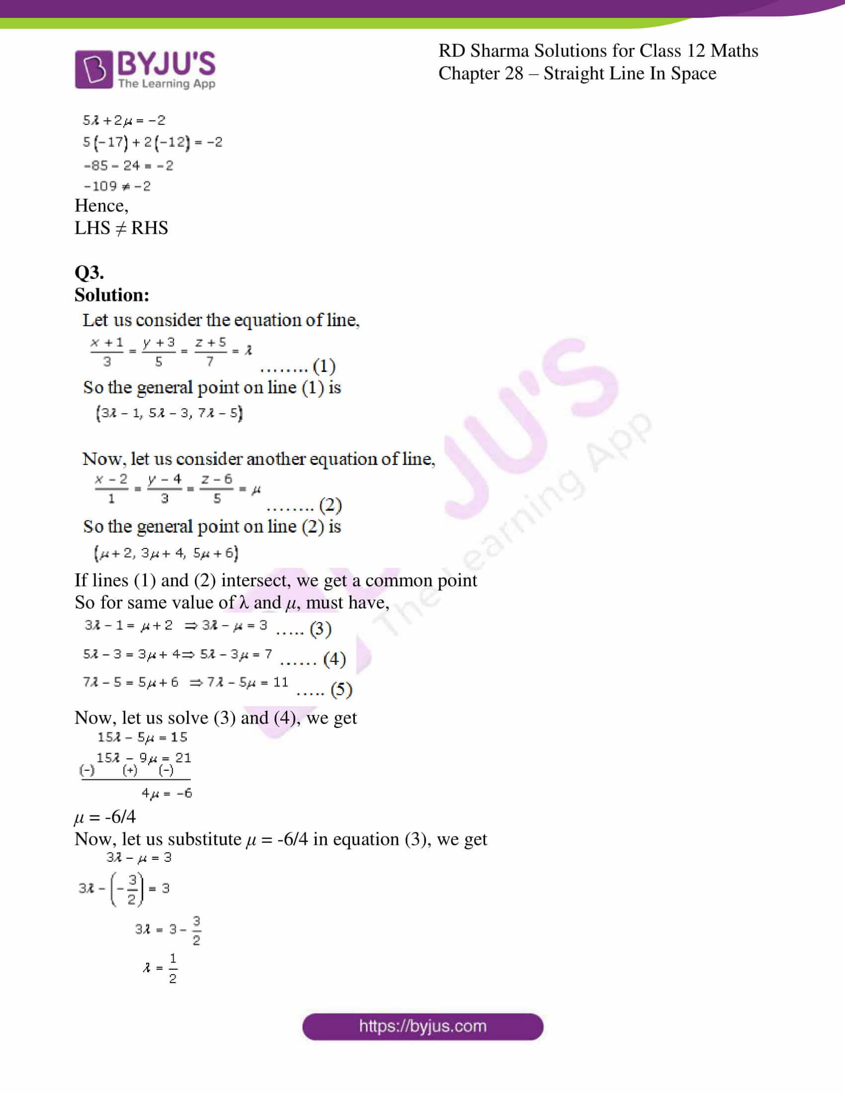 rd sharma class 12 solution for maths chapter 28 ex 3 3