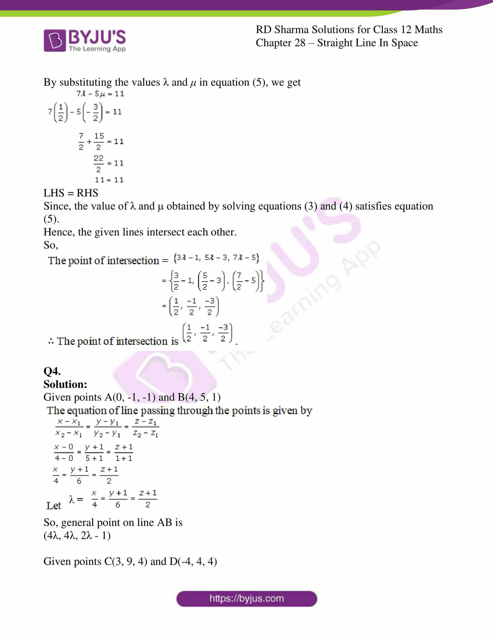 rd sharma class 12 solution for maths chapter 28 ex 3 4