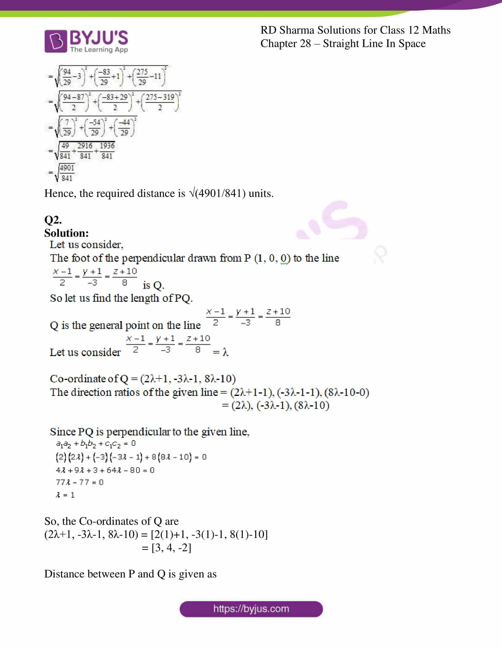 rd sharma class 12 solution for maths chapter 28 ex 4 2