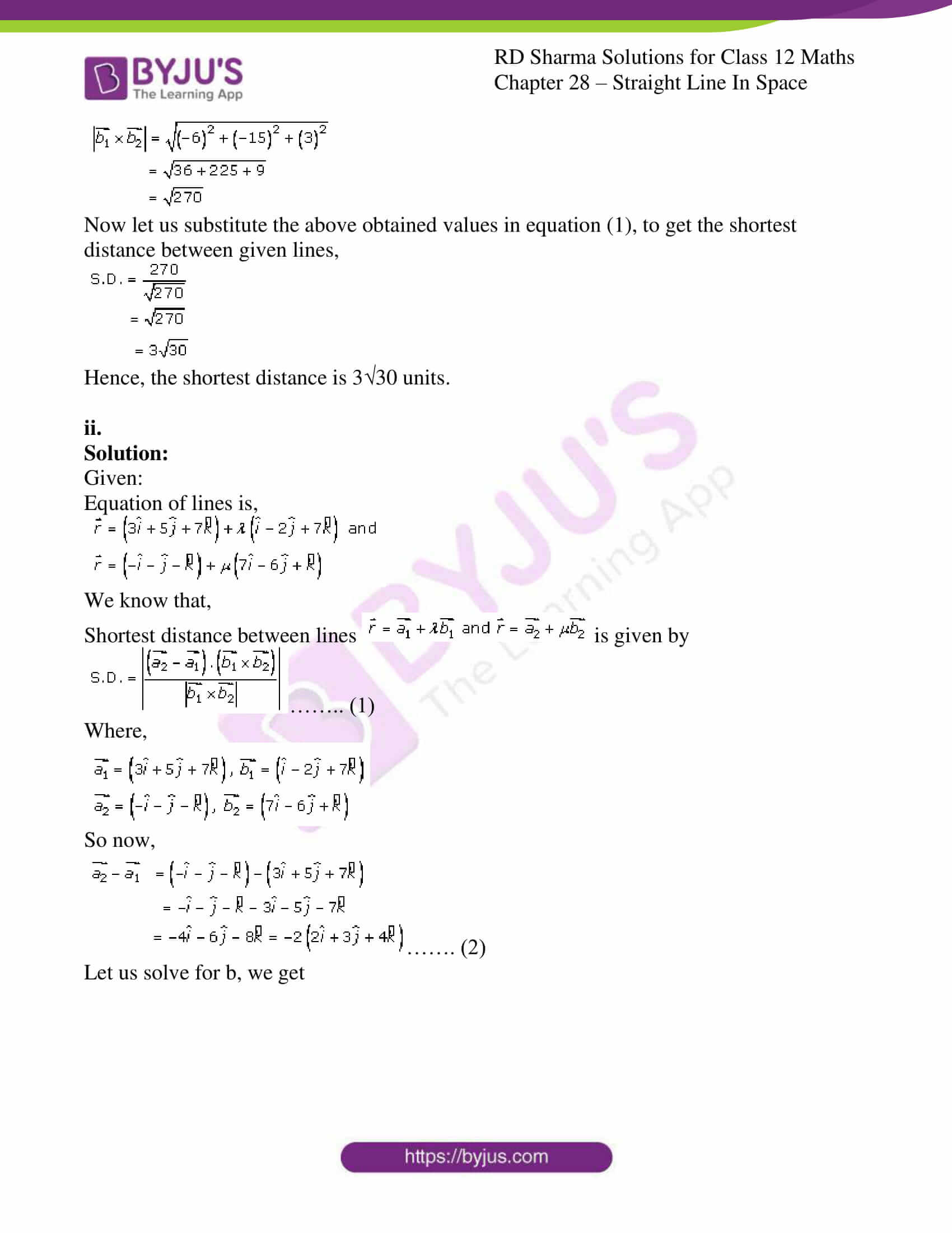 rd sharma class 12 solution for maths chapter 28 ex 5 2