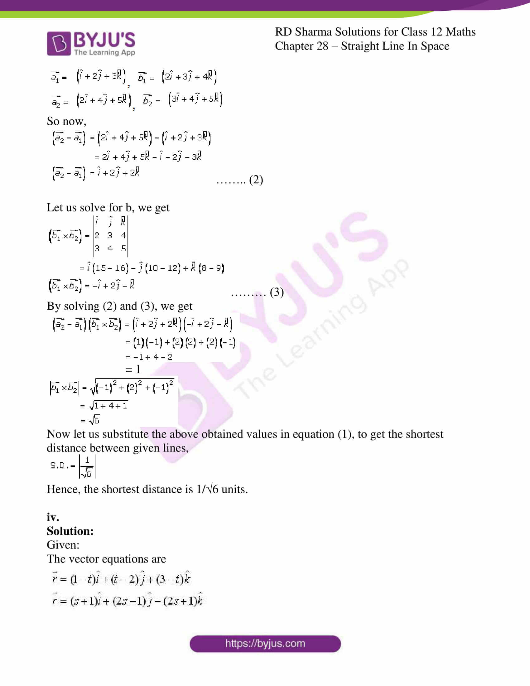 rd sharma class 12 solution for maths chapter 28 ex 5 4