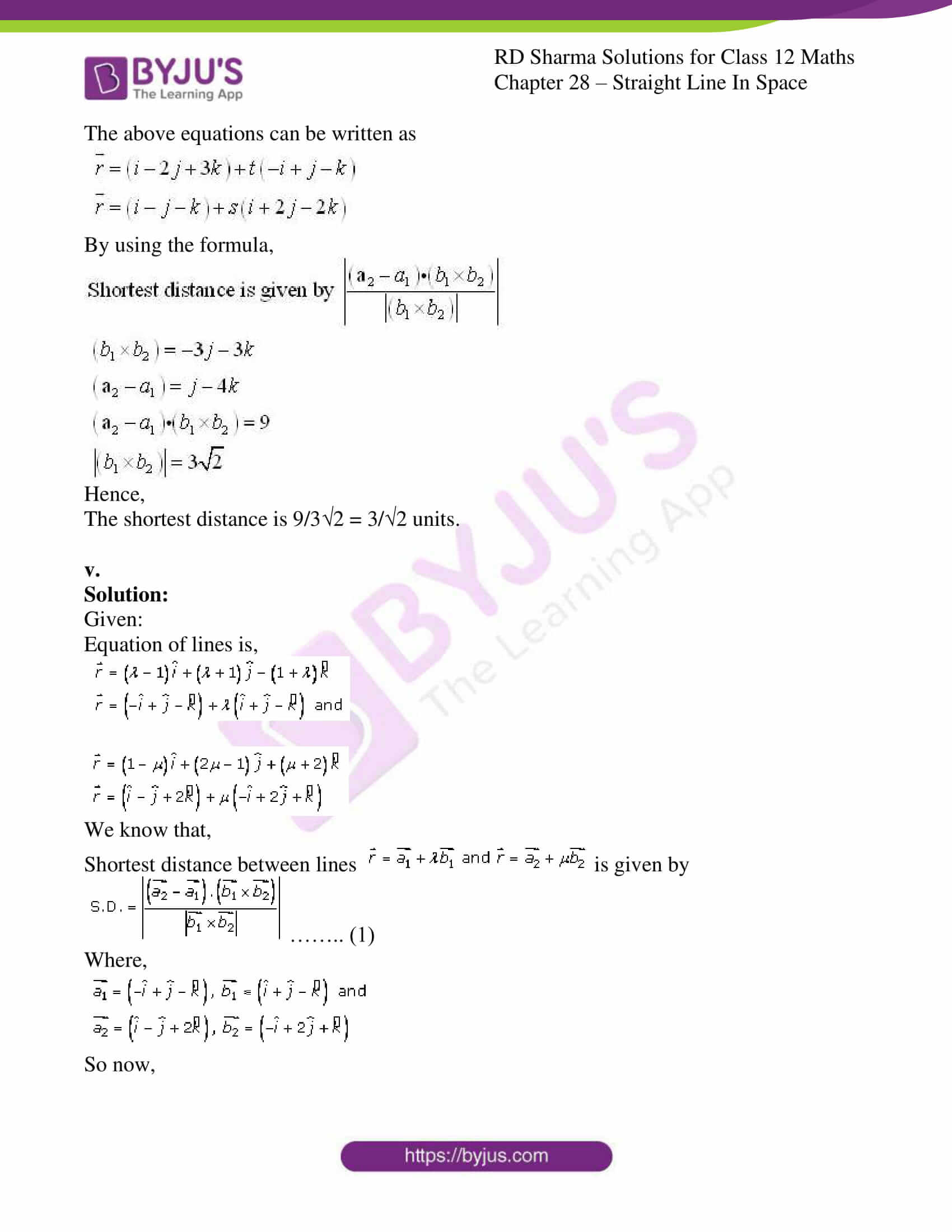 rd sharma class 12 solution for maths chapter 28 ex 5 5