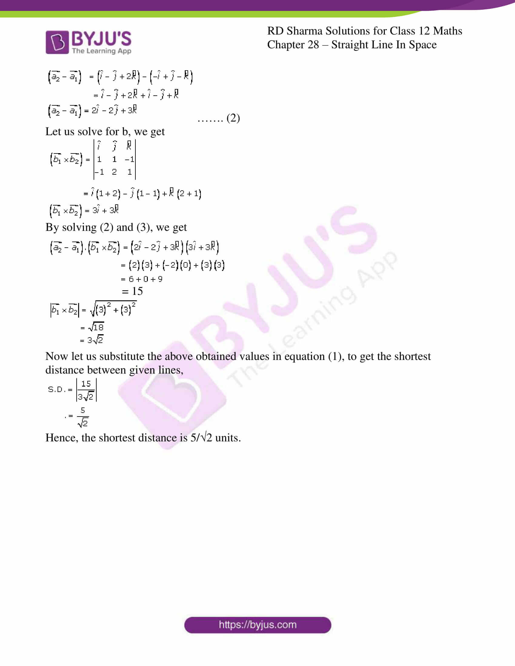 rd sharma class 12 solution for maths chapter 28 ex 5 6