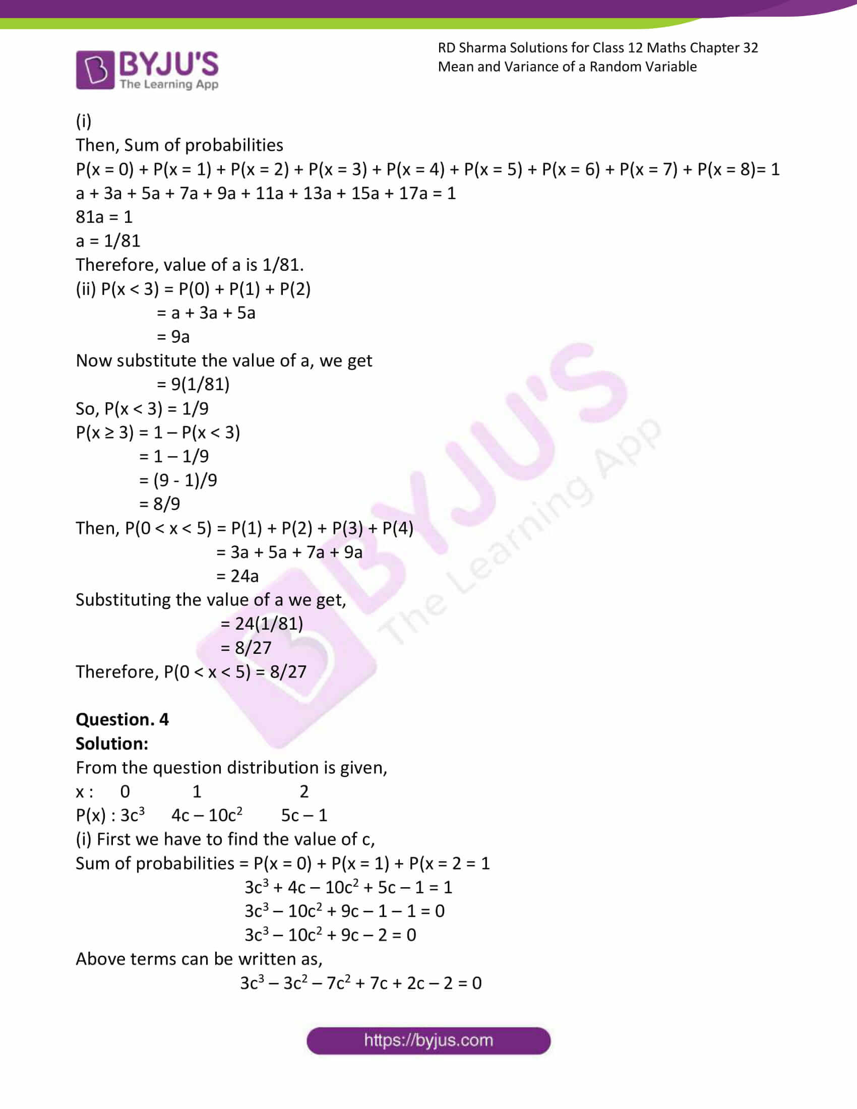 rd sharma class 12 solution for maths chapter 32 ex 1 3