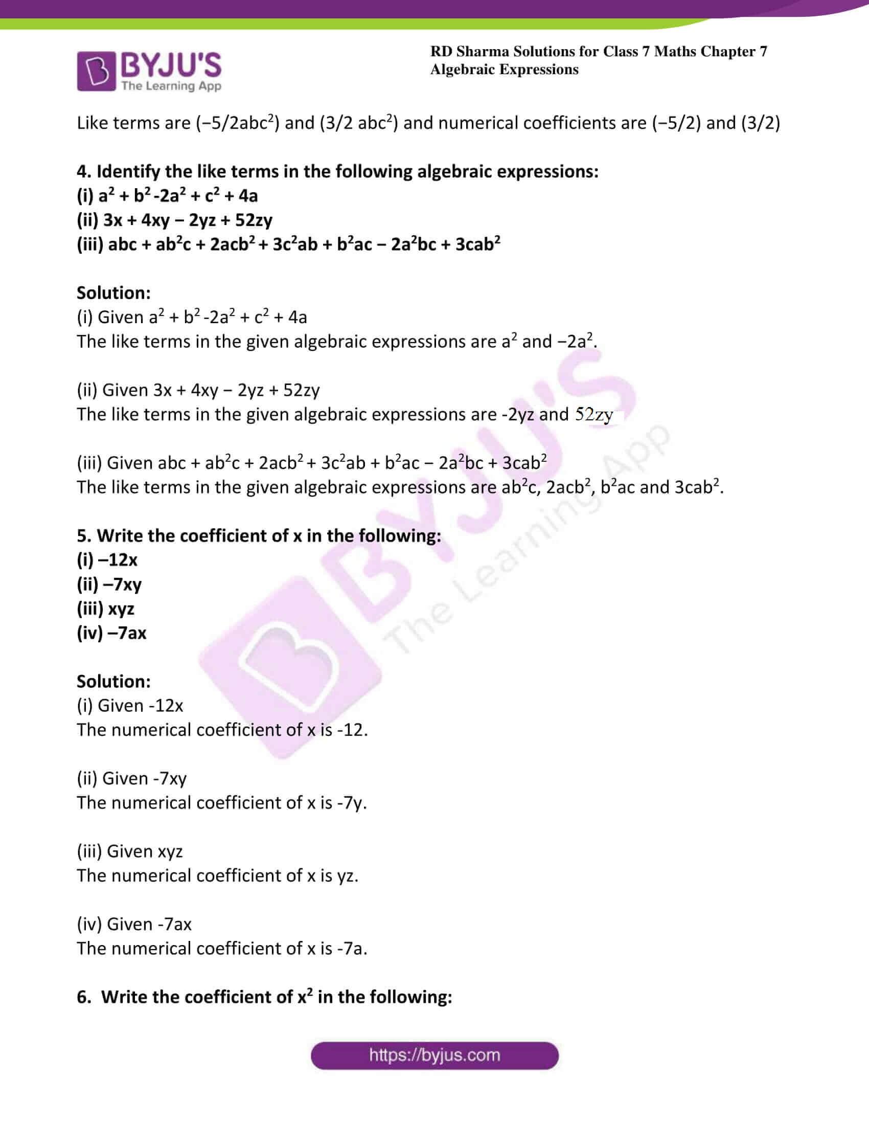 rd sharma class 7 maths solution chapter 7 ex 1