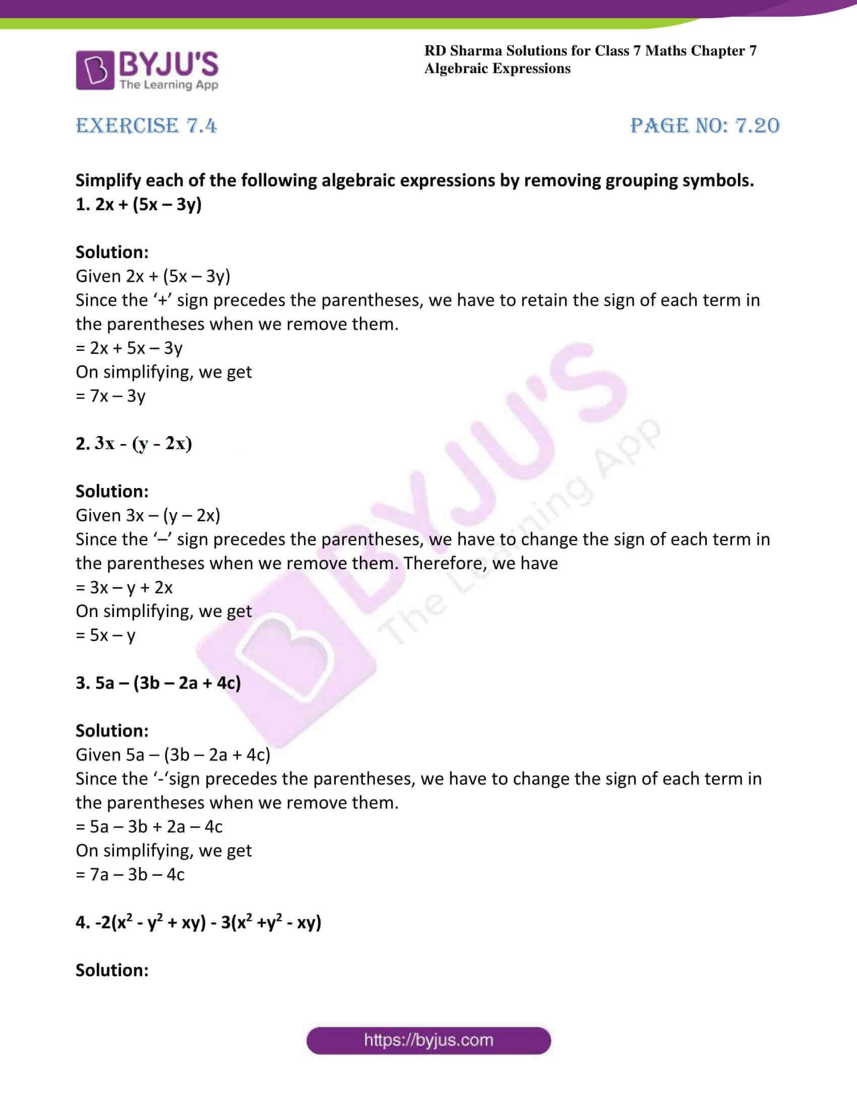 rd sharma class 7 maths solution chapter 7 ex 4