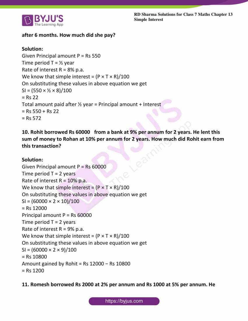 rd sharma class 7 maths solution ch 13