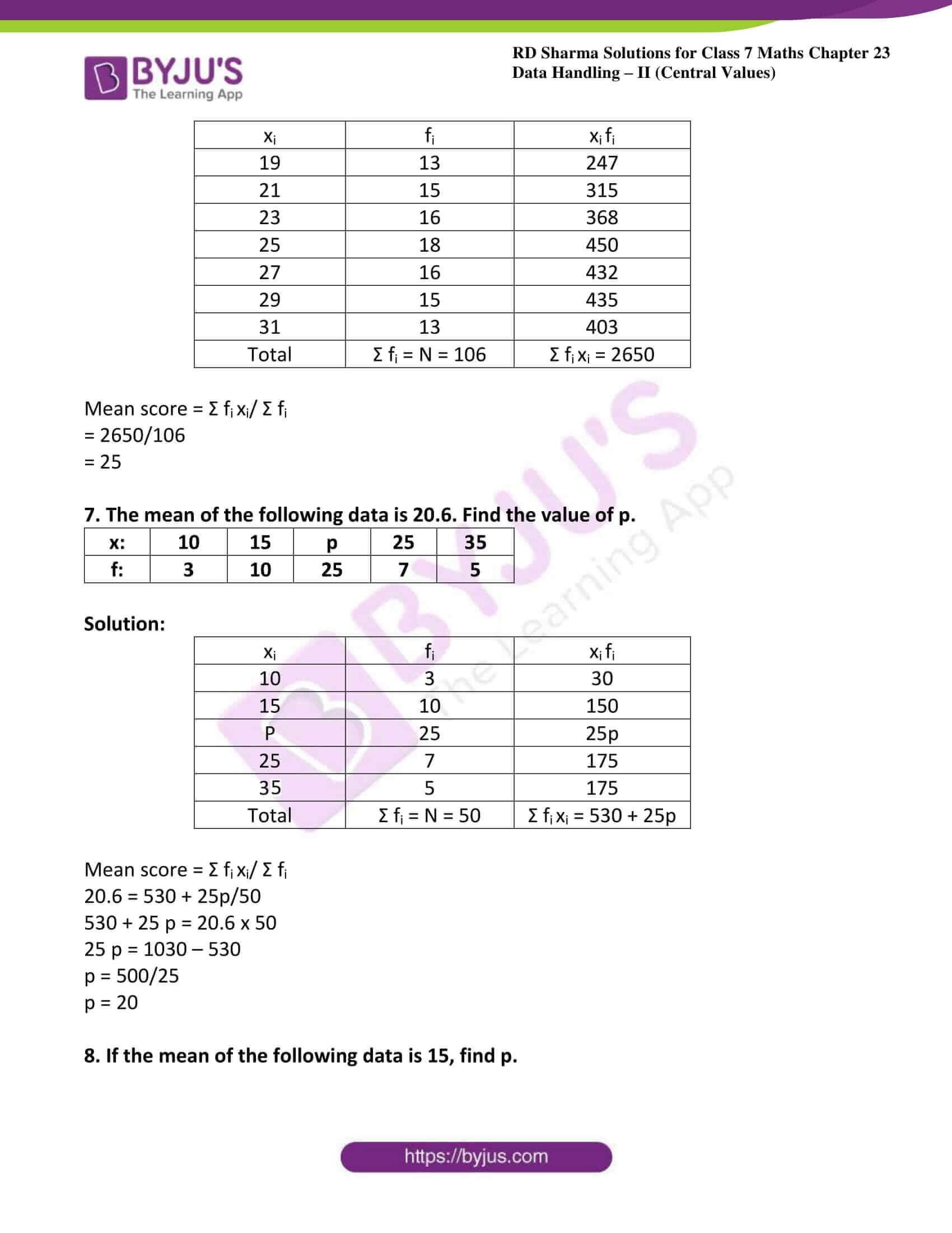 rd sharma class 7 maths solution ch 23 ex 2