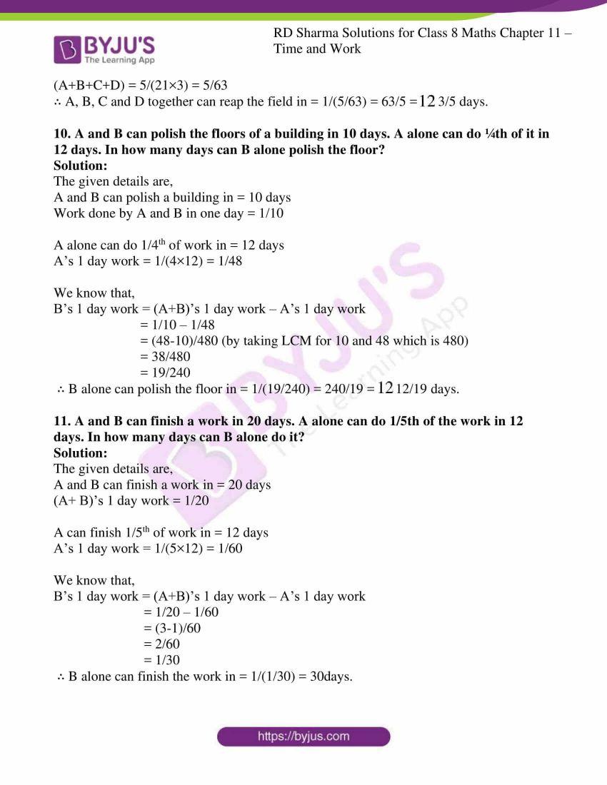 rd sharma class 8 maths chapter 11