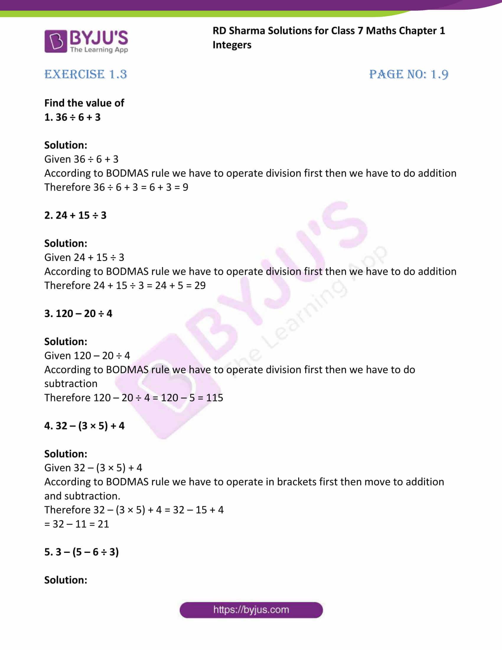rd sharma maths class7 solution chapter 1 ex 3 1