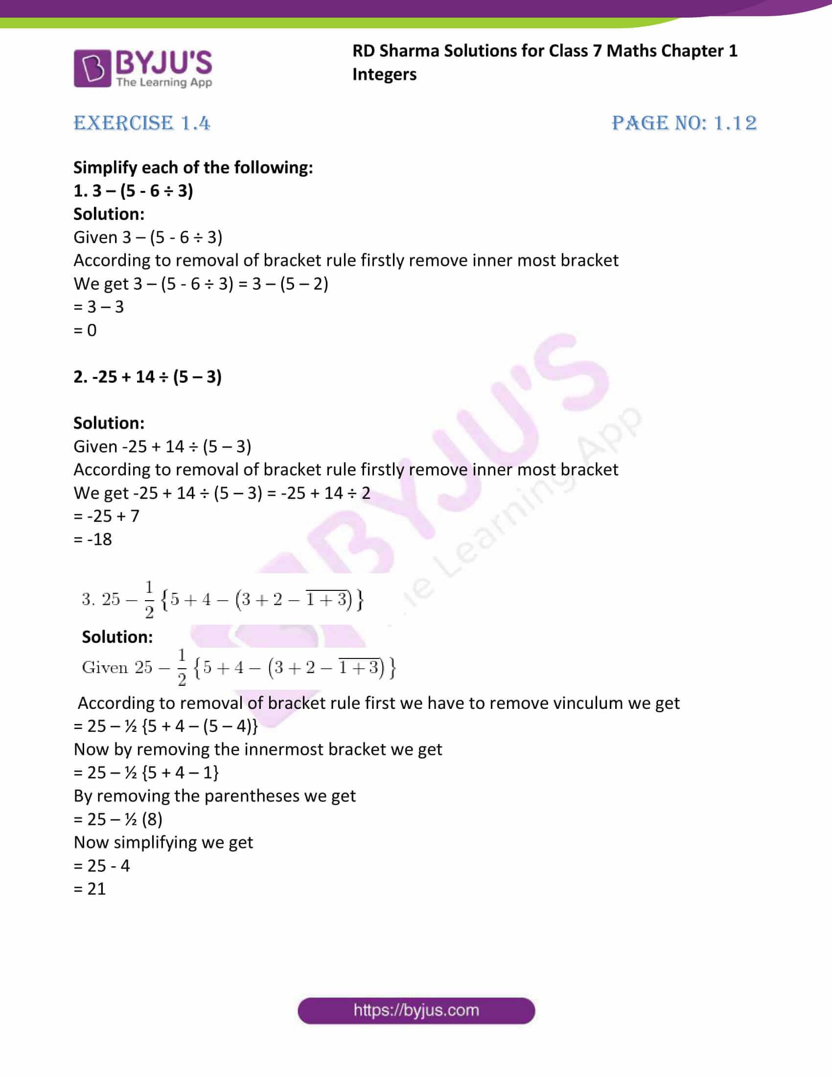 rd sharma maths class7 solution chapter 1 ex 4 1
