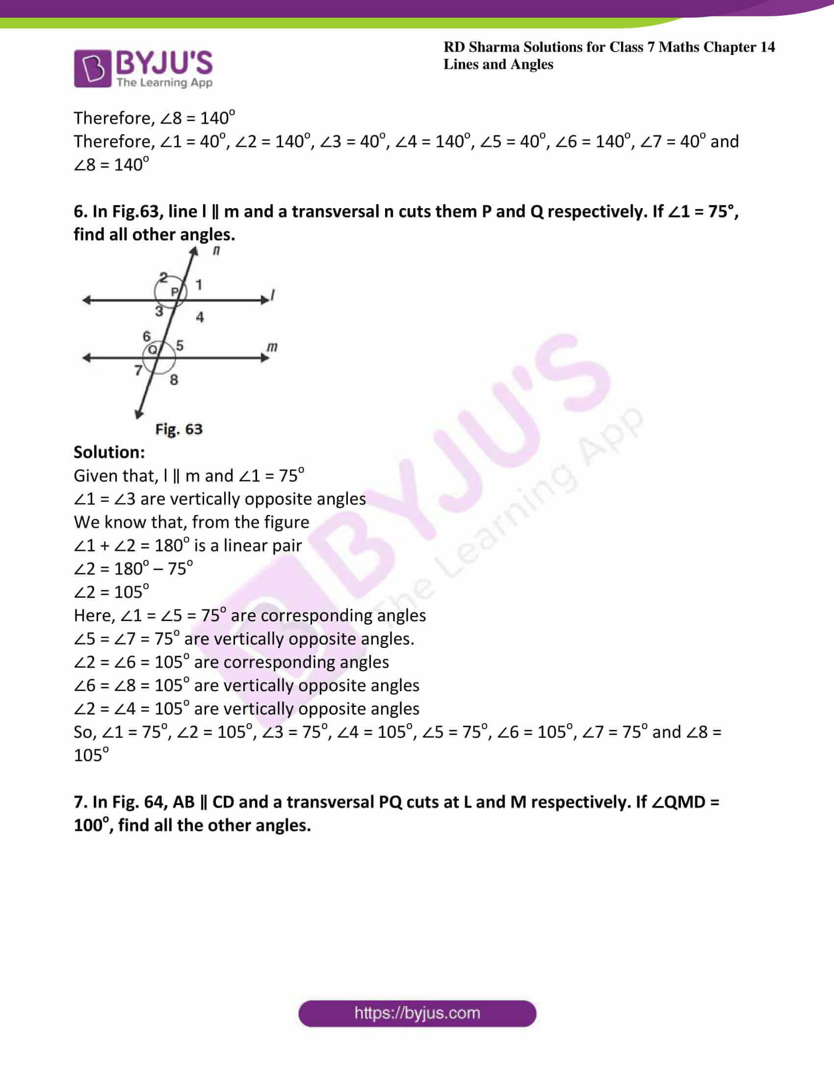 rd sharma maths class7 solution chapter 14 ex 2 06