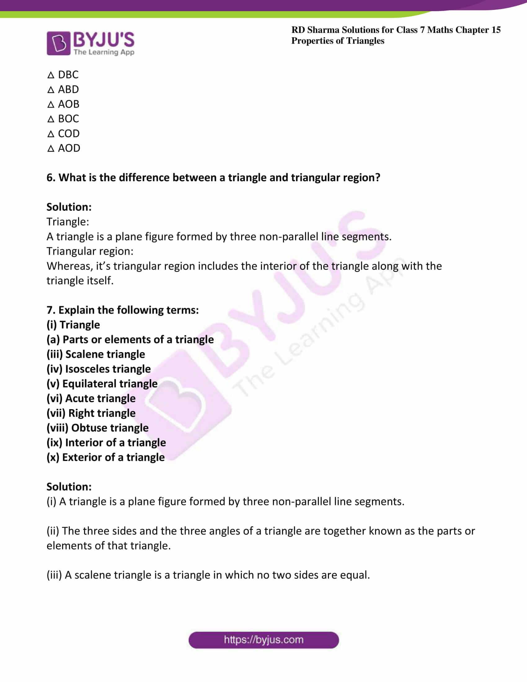 rd sharma maths class7 solution chapter 15 ex 1 3