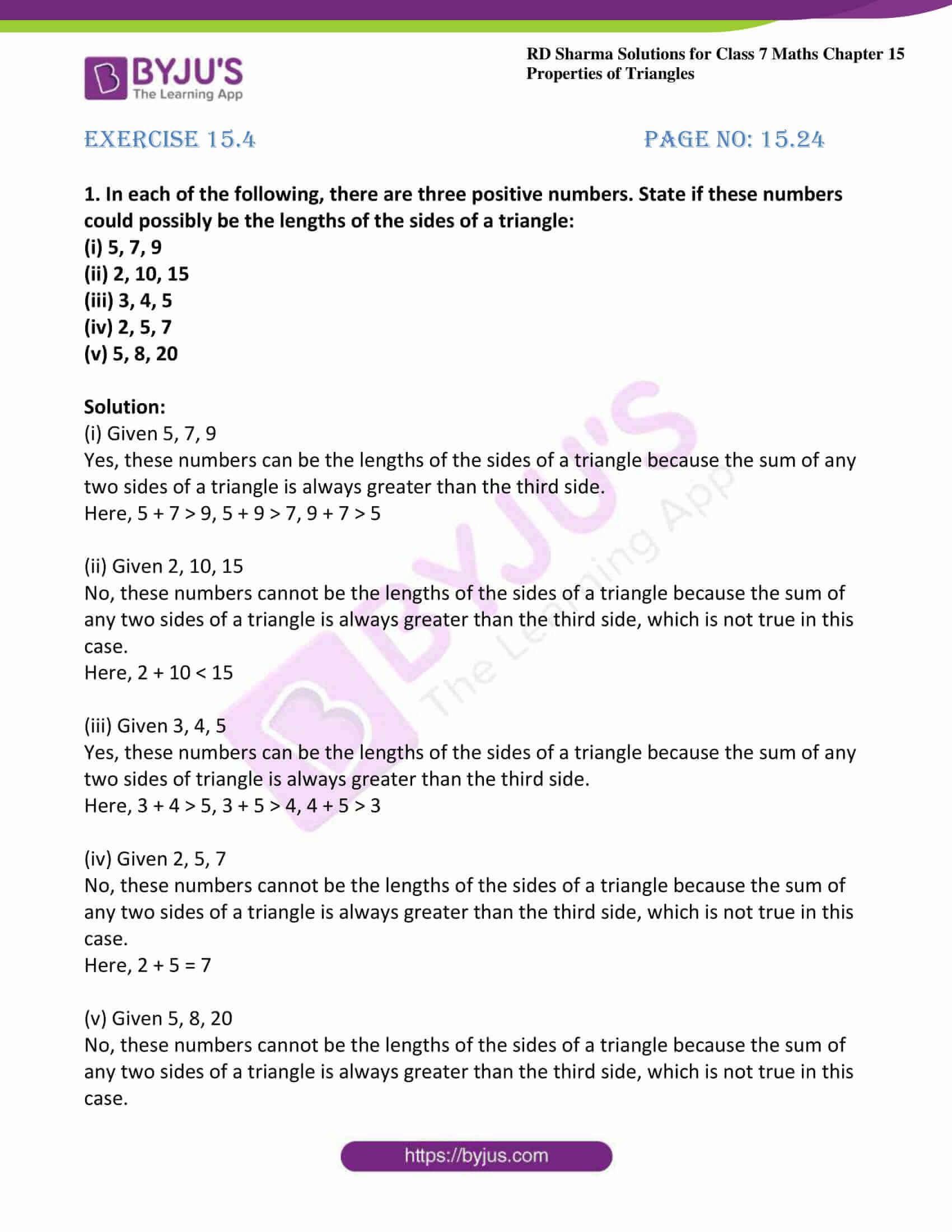 rd sharma maths class7 solution chapter 15 ex 4 1