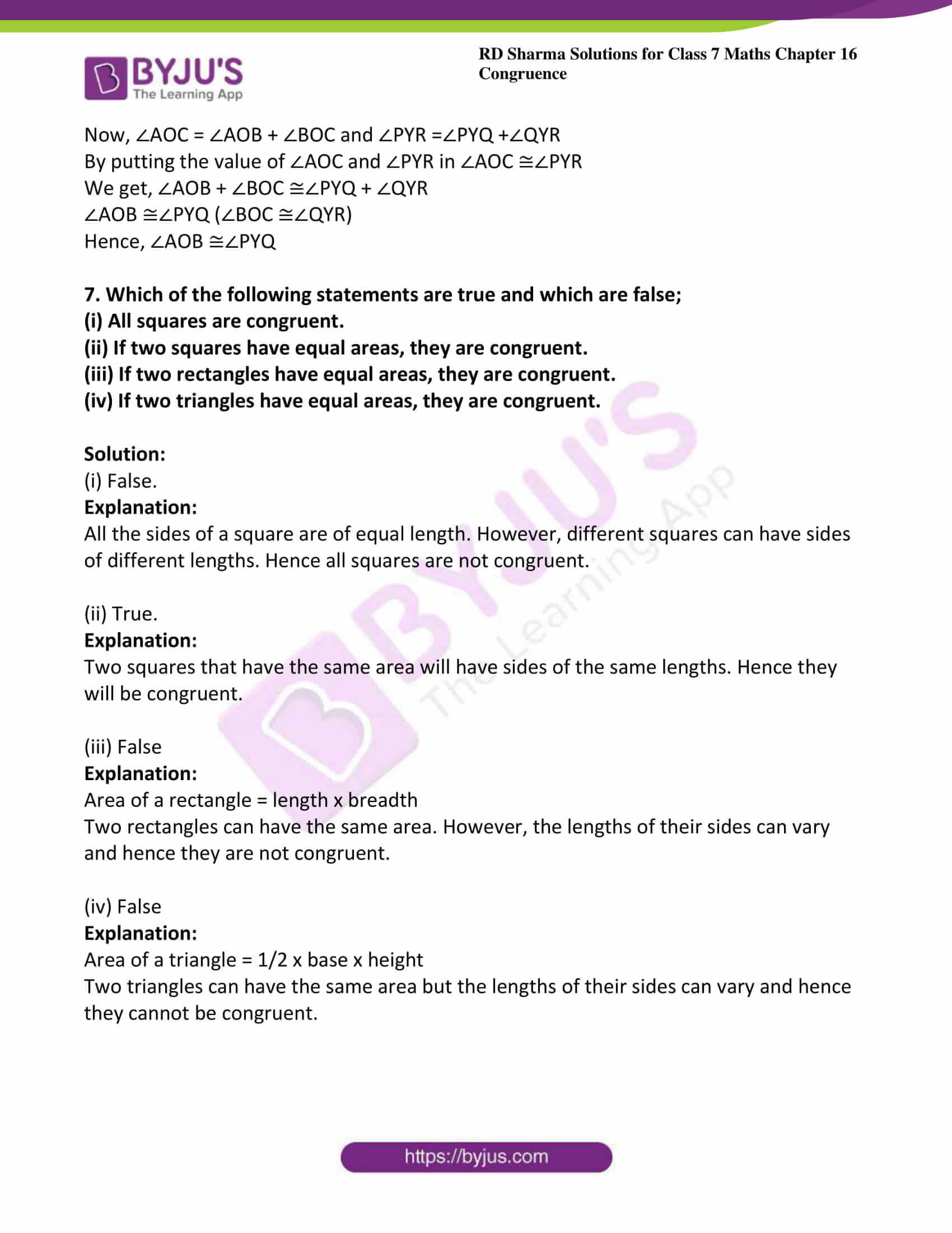 rd sharma maths class7 solution chapter 16 ex 1 4