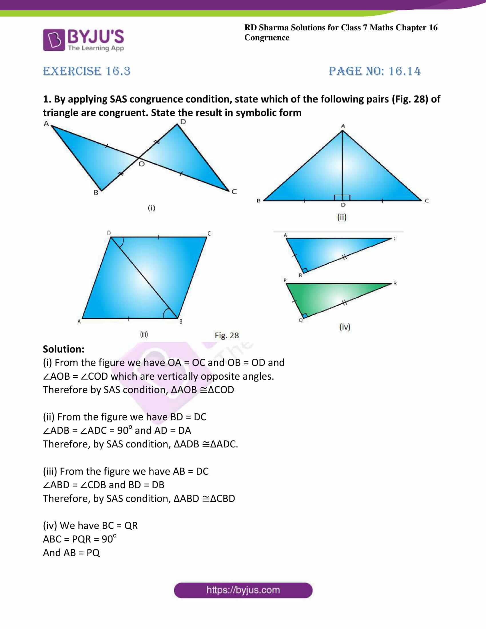 rd sharma maths class7 solution chapter 16 ex 3 1