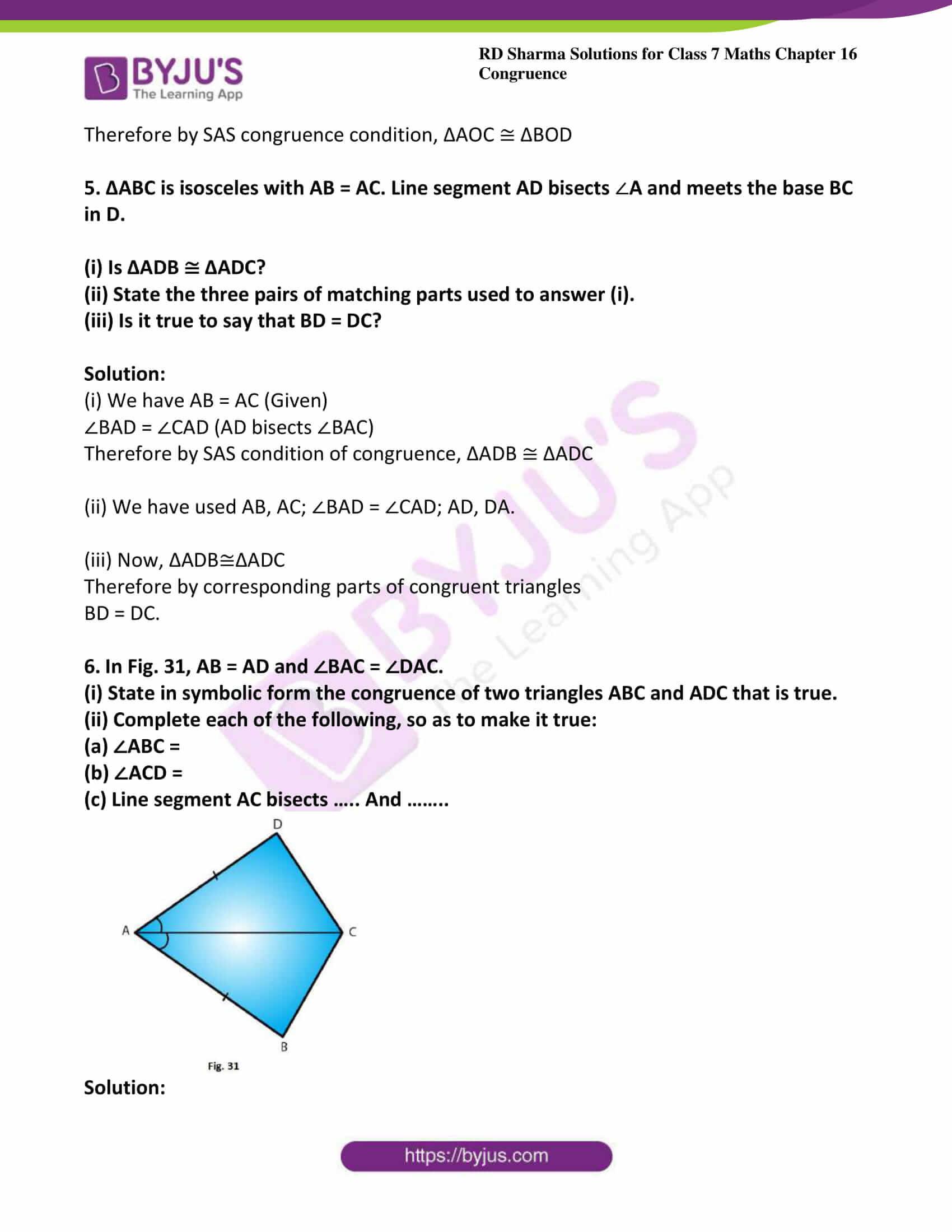 rd sharma maths class7 solution chapter 16 ex 3 4