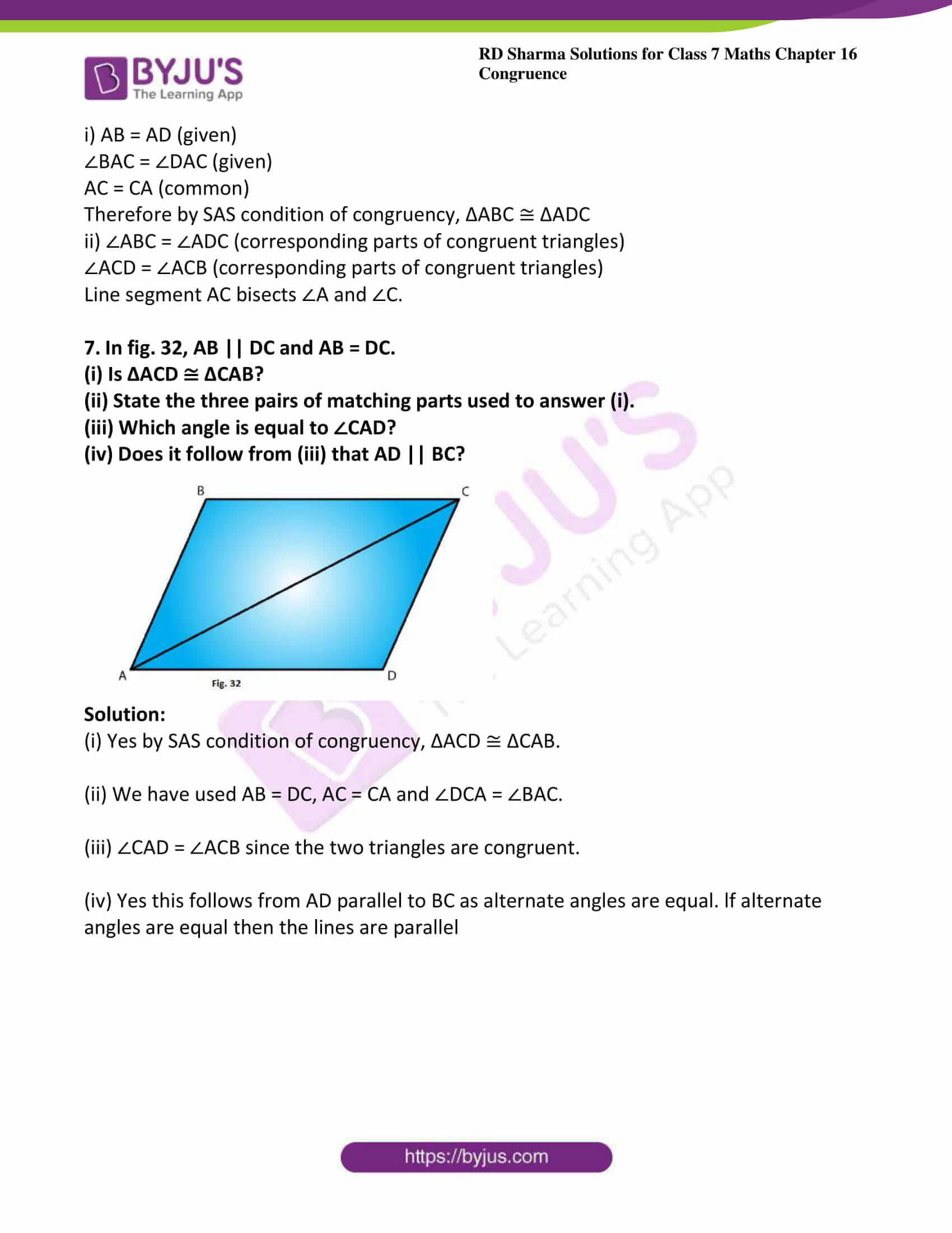 rd sharma maths class7 solution chapter 16 ex 3 5