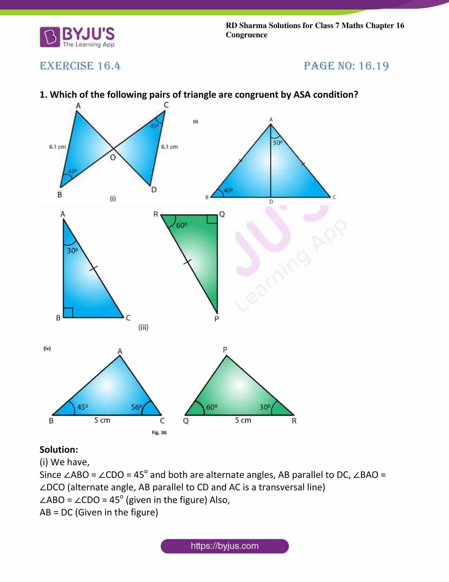 rd sharma maths class7 solution chapter 16 ex 4 1