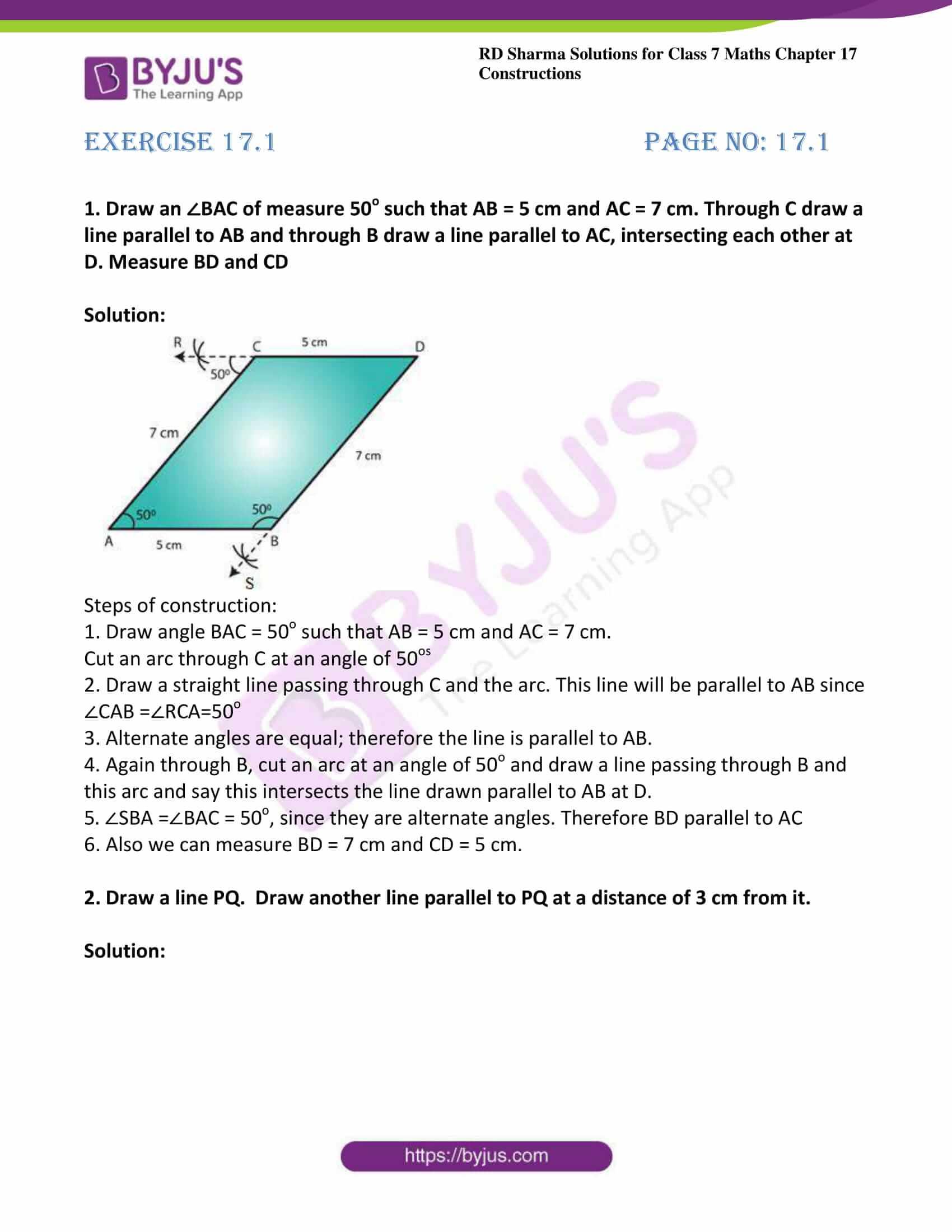 rd sharma maths class7 solution chapter 17 ex 1 1
